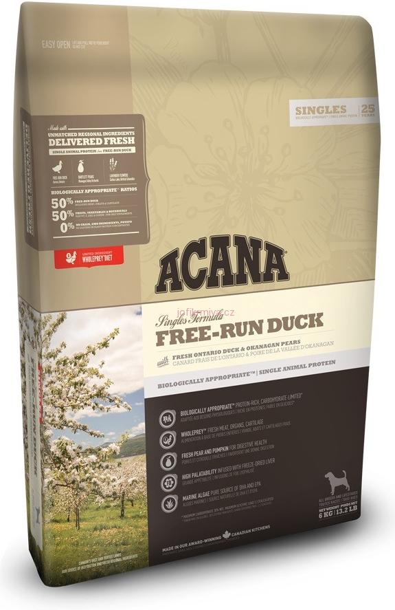 ACANA FREE-RUN DUCK SINGLES 6kg