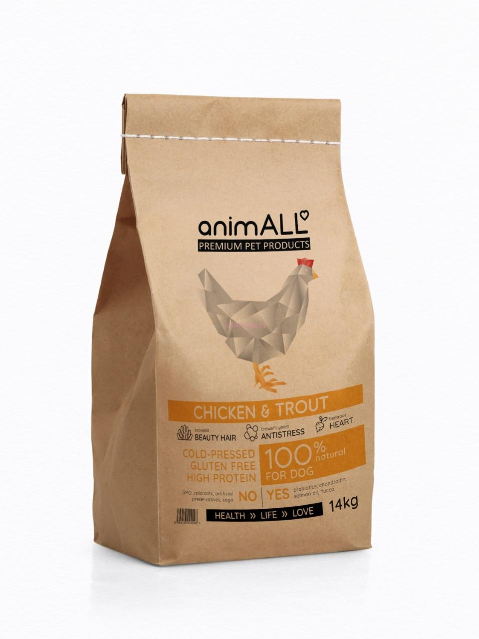 ANIMALL CHICKEN & TROUT 5 kg