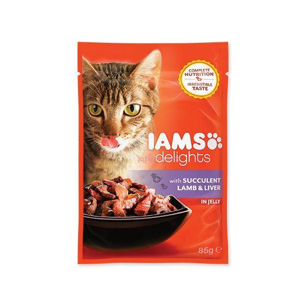 IAMS Cat delights lamb & liver in jelly 85 g