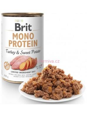 Brit Mono Protein konz. Turkey & Sweet Potato  400 g