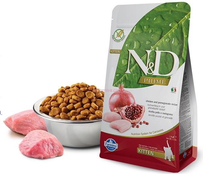 N&D PRIME CAT KITTEN Chicken & Pomegranate 5kg