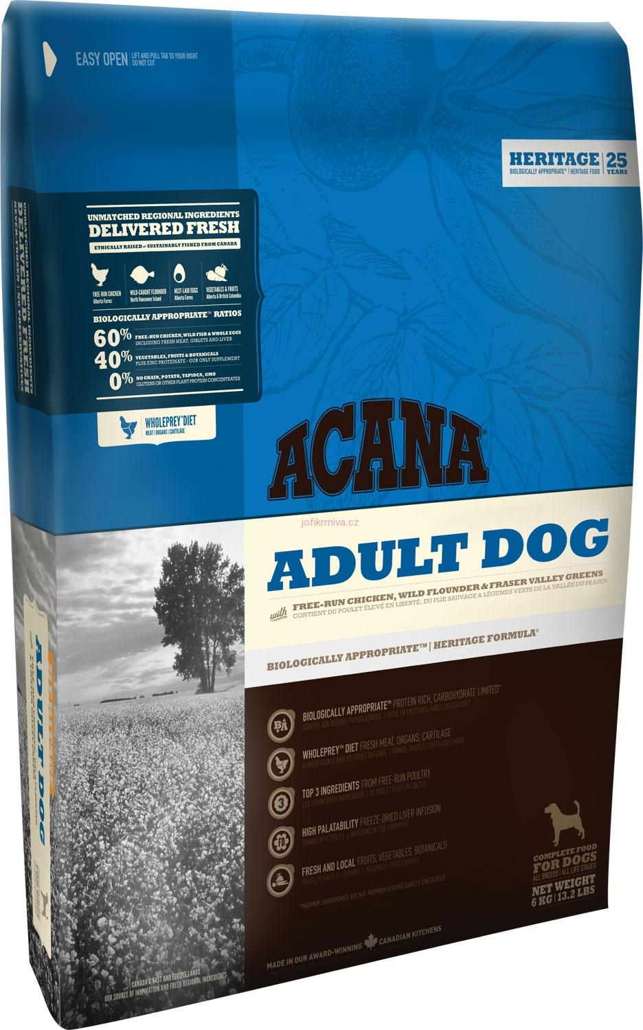 ACANA ADULT DOG HERITAGE 11,4kg