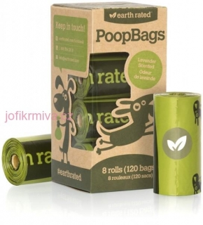 EARTH RATED ECO-FRIENDLY POOPBAGS LAVENDER (120 PCS.)