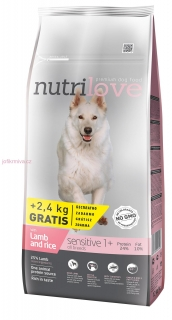Nutrilove dry dog SENSITIVE 12+2,4kg