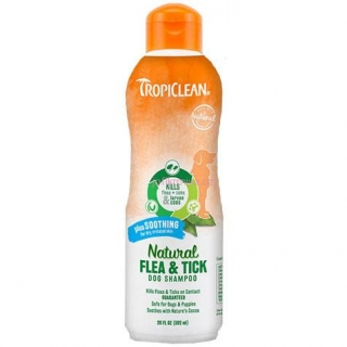 TropiClean Šampon Natural Flea & Tick plus Soothing 592ml