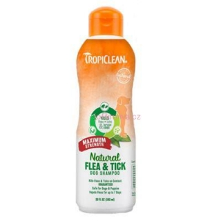 Tropiclean šampon Flea and Tick Maximum Strength 592ml