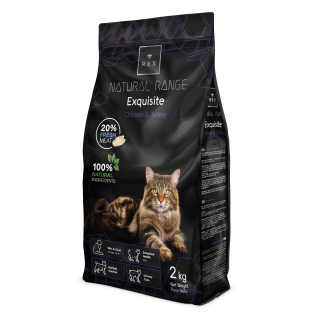 Rex Natural Range Adult cat krůta a kuře 2 kg