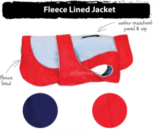 Fleece lined jacket RED L 46,5-53 cm