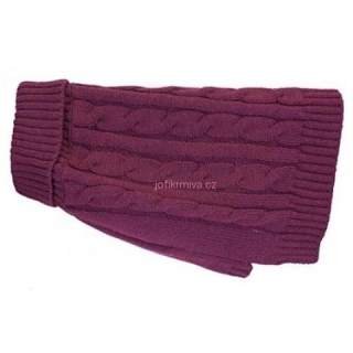 Charlton Cable Knit Deep Berry XXS 18-25,5 cm