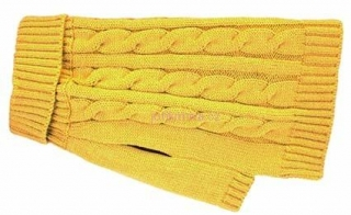 Charlton Cable Knit Mustard XS 25.5-30 cm