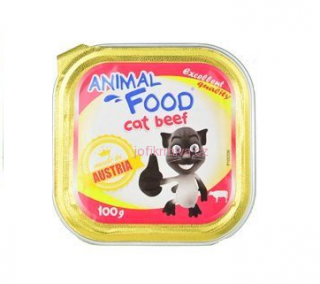 Animal Food Cat paštika hovězí 100g - exp. doprodej